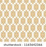 vector golden damask ornamental ... | Shutterstock .eps vector #1165642366