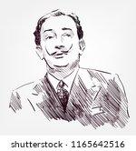 salvador dali vector sketch... | Shutterstock .eps vector #1165642516