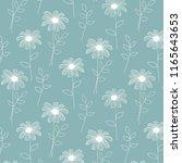 hand drawn botanical aqua... | Shutterstock .eps vector #1165643653