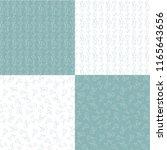 aqua blue white hand drawn... | Shutterstock .eps vector #1165643656