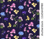 botanical floral  pattern | Shutterstock .eps vector #1165643980