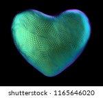 heart made of natural green... | Shutterstock . vector #1165646020