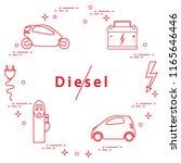 ban on diesel engines.... | Shutterstock .eps vector #1165646446