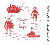 children's toys for the boy ... | Shutterstock .eps vector #1165646473