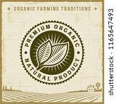 vintage premium organic natural ... | Shutterstock . vector #1165647493