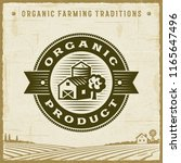 vintage organic product label | Shutterstock . vector #1165647496