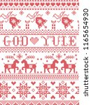 christmas pattern merry... | Shutterstock .eps vector #1165654930