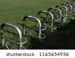 bicycle parking places | Shutterstock . vector #1165654936