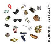 freehand drawing hipster items. ... | Shutterstock .eps vector #1165662649