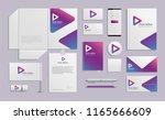 vector mockup set of realistic... | Shutterstock .eps vector #1165666609