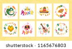 vector collection of cards with ... | Shutterstock .eps vector #1165676803