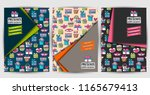 gift boxes celebration presents ... | Shutterstock .eps vector #1165679413