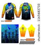 long sleeve motocross jerseys t ... | Shutterstock .eps vector #1165683733