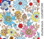 flowers seamless pattern... | Shutterstock .eps vector #1165687240