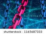 block chain concept.... | Shutterstock . vector #1165687333