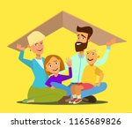 concept of the home of a young... | Shutterstock .eps vector #1165689826