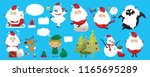 collection of christmas santa... | Shutterstock .eps vector #1165695289