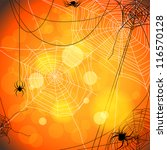 background with spiders and web | Shutterstock .eps vector #116570128