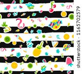 vector tropical summer seamless ... | Shutterstock .eps vector #1165702579
