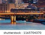 illuminated bridge in st. paul. ... | Shutterstock . vector #1165704370