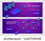 data handling and information... | Shutterstock .eps vector #1165704430