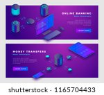 money transfer operation and... | Shutterstock .eps vector #1165704433