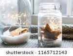 Warm Light Led And A Jar With...