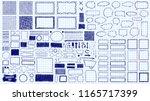 doodles set. scribble... | Shutterstock .eps vector #1165717399