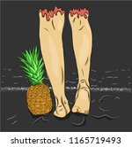 relaxation and leisure in... | Shutterstock .eps vector #1165719493