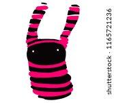 strange cute black and pink... | Shutterstock .eps vector #1165721236