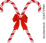 shiny red christmas candy cane...   Shutterstock .eps vector #116572984