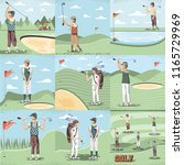 golf player women in the course | Shutterstock .eps vector #1165729969