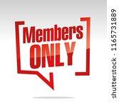members only in brackets speech ...   Shutterstock .eps vector #1165731889