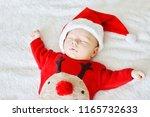 Little Sleeping Newborn Baby...