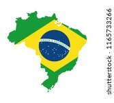 brazilian map with flag ... | Shutterstock .eps vector #1165733266