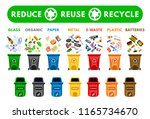 reduce  reuse  recycle waste.... | Shutterstock .eps vector #1165734670