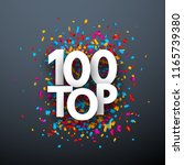 top 100 poster with colorful... | Shutterstock .eps vector #1165739380