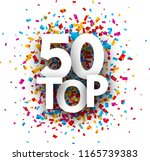 top 50 poster with colorful... | Shutterstock .eps vector #1165739383