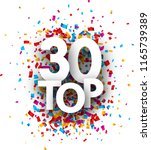 top 30 poster with colorful... | Shutterstock .eps vector #1165739389