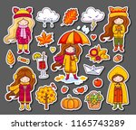 hello autumn collection. vector ... | Shutterstock .eps vector #1165743289