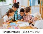 friendship. cute sweet company... | Shutterstock . vector #1165748440