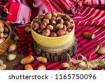 turkish hazelnut from black sea ... | Shutterstock . vector #1165750096