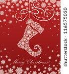 Christmas Card With A Christma...