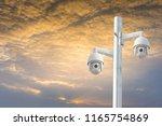 cctv camera systems... | Shutterstock . vector #1165754869