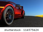 the automobile on a background...   Shutterstock . vector #116575624