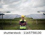 engineer electric woman... | Shutterstock . vector #1165758130