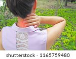 neck and shoulder pain and...   Shutterstock . vector #1165759480