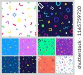 set of abstract geometric... | Shutterstock . vector #1165759720