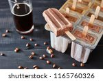 appetizing coffee ice popsicle... | Shutterstock . vector #1165760326