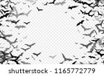 black silhouette of bats... | Shutterstock .eps vector #1165772779